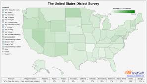 Dialect Map Usa by United States Dialect Survey Visual Ly