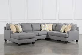 Sectional Sofa With Double Chaise Chamberly 4 Piece Sectional W Laf Chaise Living Spaces