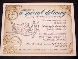 baby shower invitation a special delivery baby and stork