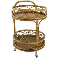 Bamboo Bar Top Round Bar Cart Design Options For Serving Drinks Homesfeed