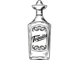 cocktail svg alcohol bottle 2 tequila liquor sombrero drink drinking