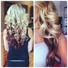 hair styles brown on botton and blond on top pictures of it red hair with bottom blonde google search style pinterest