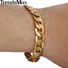 man chain bracelet images Trendsmax 8mm gold filled bracelet flat cut curb mens boys chain jpg