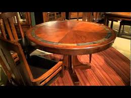 craftsman home round convert a height pedestal dining table by