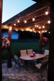 Lights On Patio Adding String Patio Lights To The Pergola The Best Prices I Found