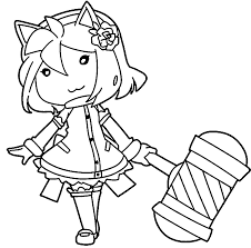 chibi amy rose full coloring page wecoloringpage