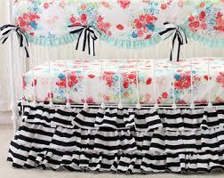 stripe crib bedding etsy