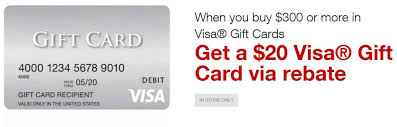 5 gift cards staples 5x 20 rebate on 300 in visa gift cards frequent miler