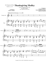 thanksgiving medley bb trumpet piano with trumpet part