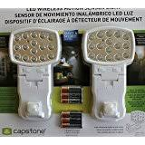 wireless motion sensor light model ct m201 amazon com capstone 16 super bright led s motion sensor lights 2