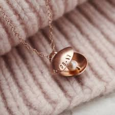 pearl charm necklace images Personalised oyster pearl charm necklace by posh totty designs jpg