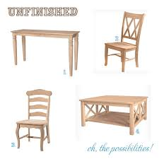 Wooden Chair Png Unpainted Chairs Linen Dining Chair Unfinished Wood Mission Set Of