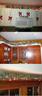 decorative items for above kitchen cabinets kitchen cabinet christmas decorating ideas sougi me