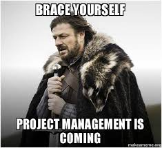 Project Management Meme - brace yourself project management is coming brace yourself game