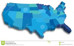 50 State Map by Us Map United States Map With All 50 States Stock Photos Image