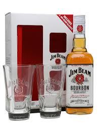 Bourbon Gift Basket Jim Beam White Label And 2 Glasses Gift Pack The Whisky Exchange