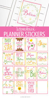free printable inspirational quote planner stickers for women inspirational planner stickers perfect for when you need a little motivation these free printable planner
