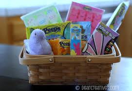 peeps basket gift baskets easter diy crafts project easter basket