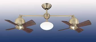 3 head ceiling fan 22 impeller double head ceiling fan antique brass
