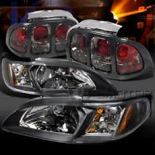 1994 mustang tail lights 1994 1998 ford mustang black headlight corner ls smoke tail