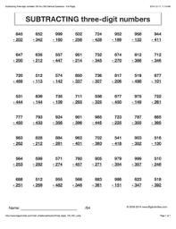 math problems for grade 4 grade 4 math worksheets vertical subtraction