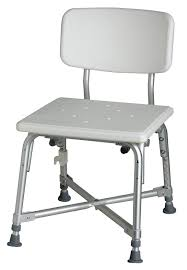 amazon com medline bariatric aluminum bath bench with back