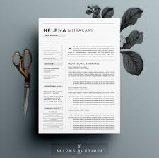 Boutique Resume Sample by Resume Template 4 Pages Simplifier Resume Templates Creative