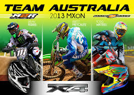 motocross helmets australia team australia riders all wearing m2r at 2013 motocross of nations