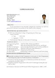 Resume Examples For Government Jobs gulf resume format sample resume format