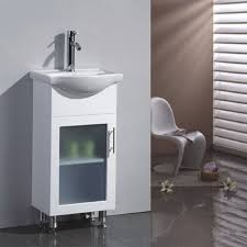 Chair For Bathroom Vanity by Bathroom Cabinets White Chair On Sleek Floor Near Big Window
