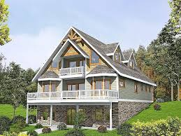 house plans for sloping lots house plan beautiful vacation house plans sloped lot lake house
