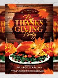 pre thanksgiving seasonal a5 flyer poster template