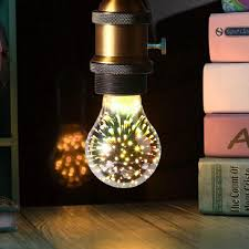 best new 2017 a60 e27 led globe light novelty rgb 3d fireworks