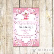 design sophisticated fairy princess birthday party invitations