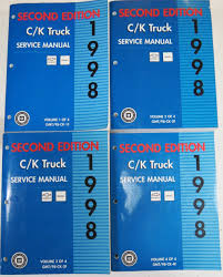 1998 chevrolet u0026 gmc c k truck service manuals second edition 4