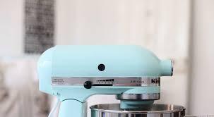 light pink kitchenaid stand mixer blue kitchenaid beach cottage style life by the sea