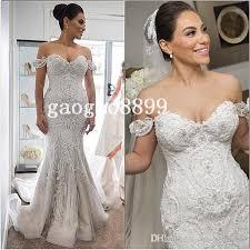 2016 steven khalil amazing detail beach mermaid wedding dresses