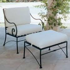wrought iron patio ottoman avery neoclassical lounge chair replacement cover outdoor lounge
