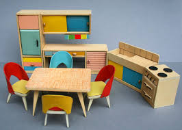 Play Kitchen From Old Furniture Dolls House Furniture Of Ullrich And Hoffmann Wichtelmarke 1951