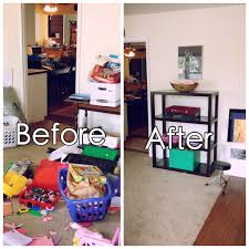 creating some room in the family room organize with less