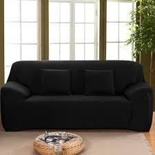 housse canapé noir hicollie 1 noir housse canapé spandex polyester lycra 3 place sofa