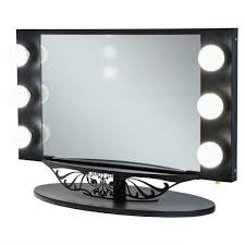 Rialto Mirrors Lighted by Decor Floxite Daylight Best Lighted Makeup Mirror In Brushed