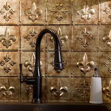 fasade backsplash fleur de lis in bermuda bronze fdl u0027s