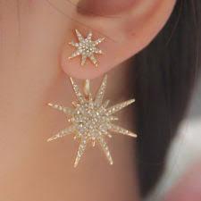 gold earrings for women 1pc rhinestone women dangle gold earrings ear