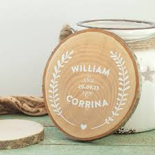 personalised wooden wedding keepsake by the drifting co
