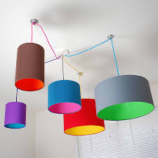Kids Lighting Pick And Mix Drum Lampshade Choice Of Colours Drums Ceiling