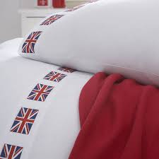 union jack flag organic bedding collection by the fine cotton