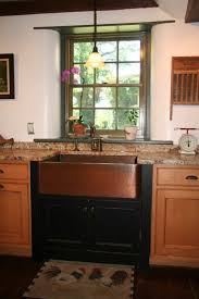 Hammered Copper Apron Front Sink by Copper Kitchen Sink Apron Copper Kitchen Sink Installed With