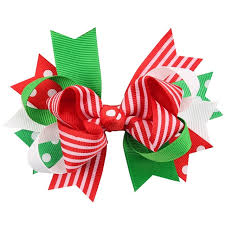christmas hair accessories 30 pcs lot handmade grosgrain ribbon christmas hair bow with