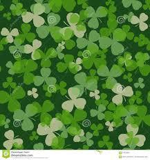 green and white irish shamrock background pattern stock vector